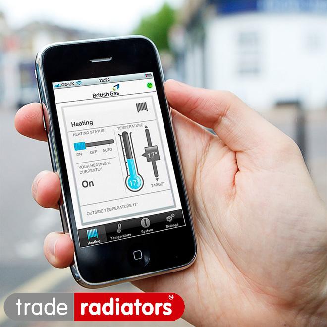Smart heating app on phone