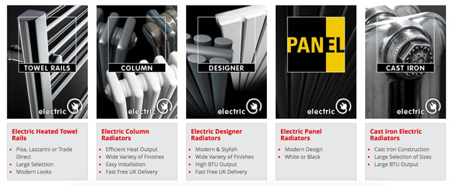 Trade Radiators - Our vast range of high quality and efficient electric radiators.