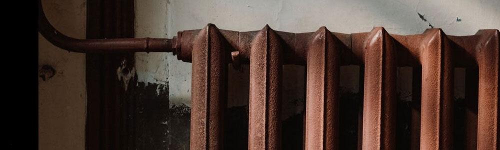 An old rusty radiator