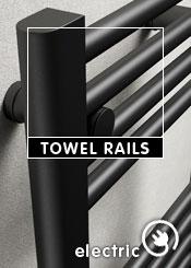 Black Electric Heated Towel Rails