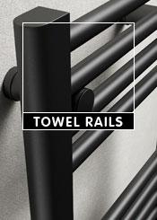 Black Heated Towel Rails