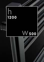 1200 x 500 mm