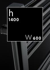 1400 x 600 mm