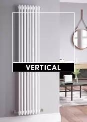 White Vertical Radiators