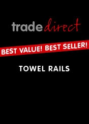 Trade Direct Silver Heated Towel Rails
