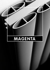 Apollo Magenta Silver Column Radiators