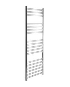 Pisa Towel Rail - 25mm, Stainless Steel Straight, 1200x600mm (Electric)