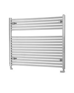 Pisa Towel Rail - 25mm, Chrome Straight, 800x1000mm