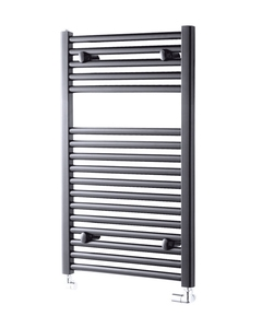 Pisa Towel Rail - 25mm, Anthracite Straight, 800x600mm (Electric)