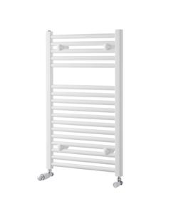 Pisa Towel Rail - 25mm, White Straight, 800x600mm