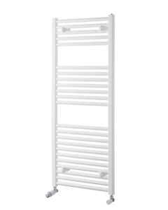 Pisa Towel Rail - 25mm, White Straight, 1200x500mm