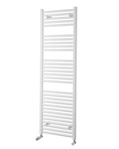 Pisa Towel Rail - 25mm, White Straight, 1500x600mm