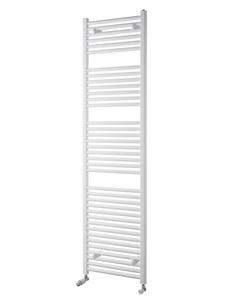 Pisa Towel Rail - 25mm, White Straight, 1800x400mm