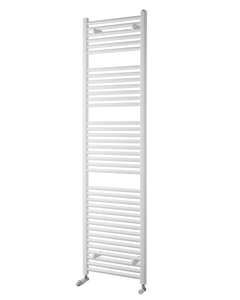 Pisa Towel Rail - 25mm, White Straight, 1800x450mm
