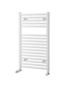 Pisa Towel Rail - 25mm, White Curved, 800x600mm (Electric)