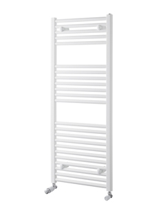 Pisa Towel Rail - 25mm, White Curved, 1200x450mm (Electric)