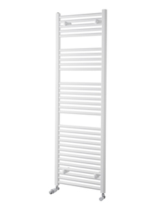 Pisa Towel Rail - 25mm, White Curved, 1500x600mm (Electric)