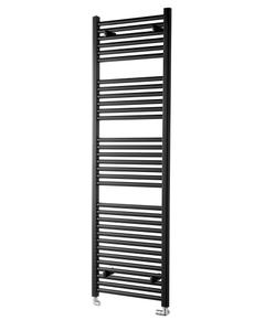 Pisa Towel Rail - 25mm, Black Straight, 1600x500mm