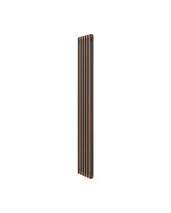 Apollo Roma 2 Column Radiator, Brown Metallic, 1800mm x 214mm