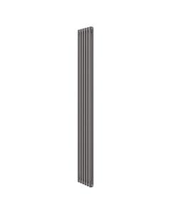 Apollo Roma 2 Column Radiator, Grey Metallic, 2000mm x 214mm