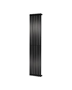 Towelrads Merlo Radiator, Black, 1800mm x 435mm
