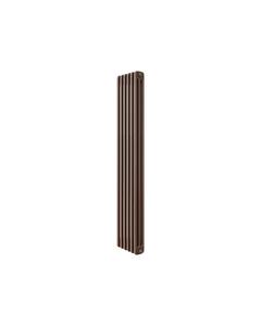 Apollo Roma 3 Column Radiator, Brown Metallic, 1500mm x 214mm