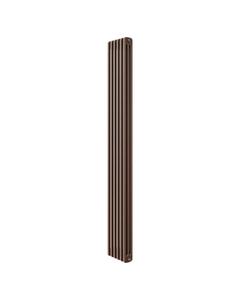 Apollo Roma 3 Column Radiator, Brown Metallic, 2000mm x 214mm