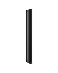 Apollo Roma 3 Column Radiator, Black Metallic, 2000mm x 306mm