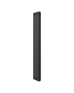 Apollo Roma 3 Column Radiator, Black Metallic, 2000mm x 398mm