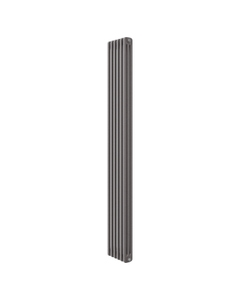 Apollo Roma 3 Column Radiator, Grey Metallic, 2000mm x 398mm