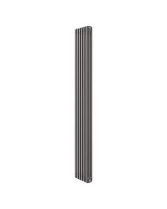 Apollo Roma 3 Column Radiator, Grey Metallic, 2000mm x 490mm