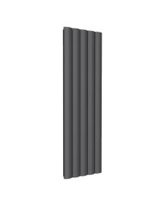 Reina Belva Aluminium Designer Radiator, Anthracite, 1800mm x 516mm - Double Panel