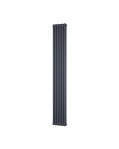 Trade Direct 2 Column Radiator, Anthracite, 1800mm x 284mm