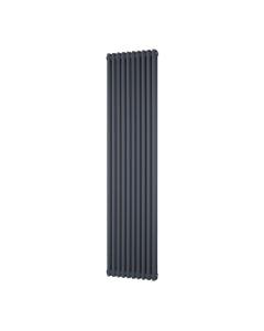 Trade Direct 2 Column Radiator, Anthracite, 1800mm x 460mm