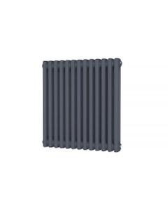 Trade Direct 2 Column Radiator, Anthracite, 600mm x 592mm