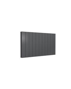 Reina Casina Aluminium Designer Radiator, Anthracite, 600mm x 1040mm - Double Panel