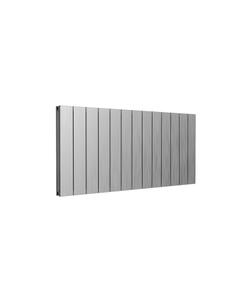Reina Casina Aluminium Designer Radiator, Satin, 600mm x 1230mm - Double Panel