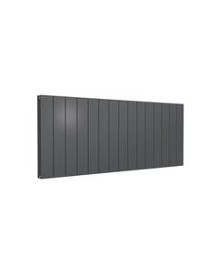Reina Casina Aluminium Designer Radiator, Anthracite, 600mm x 1420mm - Double Panel
