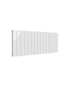 Reina Casina Aluminium Designer Radiator, White, 600mm x 1420mm - Double Panel