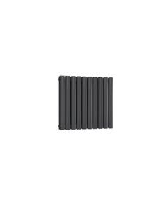 Reina Neval Aluminium Designer Radiator, Anthracite, 600mm x 581mm - Double Panel