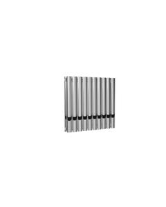Reina Neval Aluminium Designer Radiator, Polished, 600mm x 581mm - Double Panel