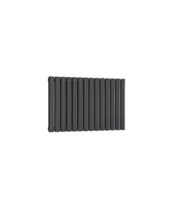 Reina Neval Aluminium Designer Radiator, Anthracite, 600mm x 817mm - Double Panel