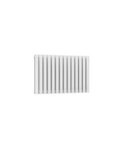 Reina Neval Aluminium Designer Radiator, White, 600mm x 817mm - Double Panel