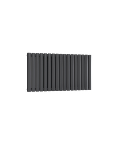 Reina Neval Aluminium Designer Radiator, Anthracite, 600mm x 994mm - Double Panel