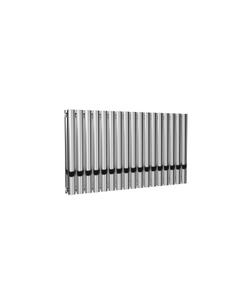 Reina Neval Aluminium Designer Radiator, Polished, 600mm x 994mm - Double Panel
