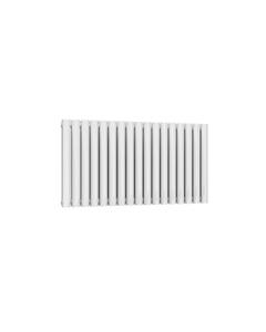 Reina Neval Aluminium Designer Radiator, White, 600mm x 994mm - Double Panel