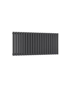 Reina Neval Aluminium Designer Radiator, Anthracite, 600mm x 1171mm - Double Panel
