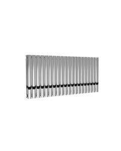 Reina Neval Aluminium Designer Radiator, Polished, 600mm x 1171mm - Double Panel