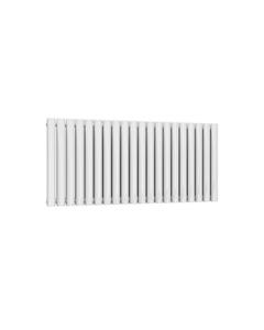 Reina Neval Aluminium Designer Radiator, White, 600mm x 1171mm - Double Panel