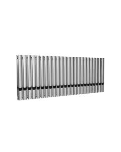 Reina Neval Aluminium Designer Radiator, Polished, 600mm x 1407mm - Double Panel
